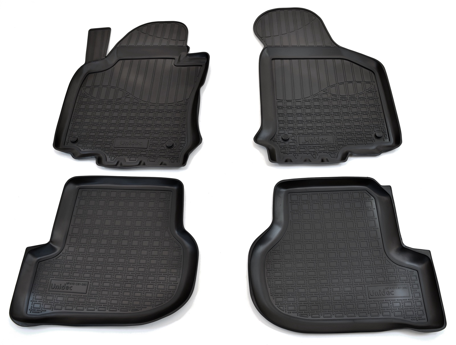 Коврики в салон автомобиля Norplast для Skoda Octavia II A5 2004-2013, NPA10-C81-390, черный недорго, оригинальная цена