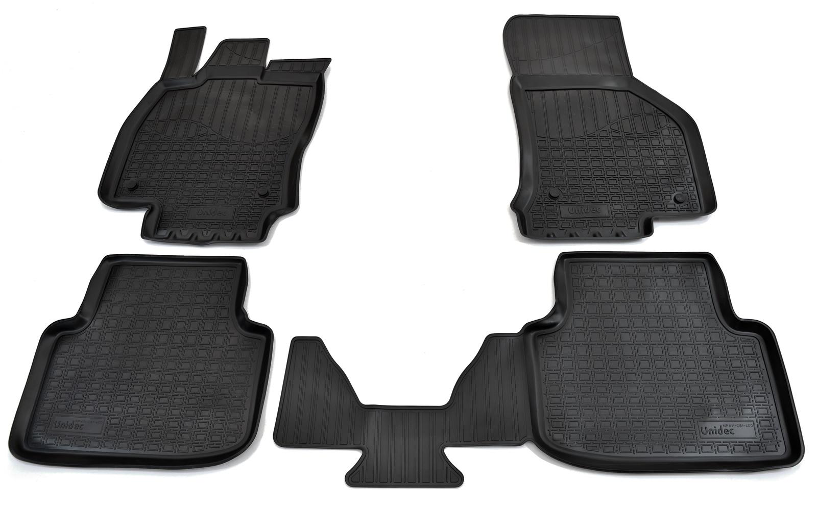 Коврики в салон автомобиля Norplast для Skoda Octavia III A7 2013, NPA11-C81-400, черный недорго, оригинальная цена