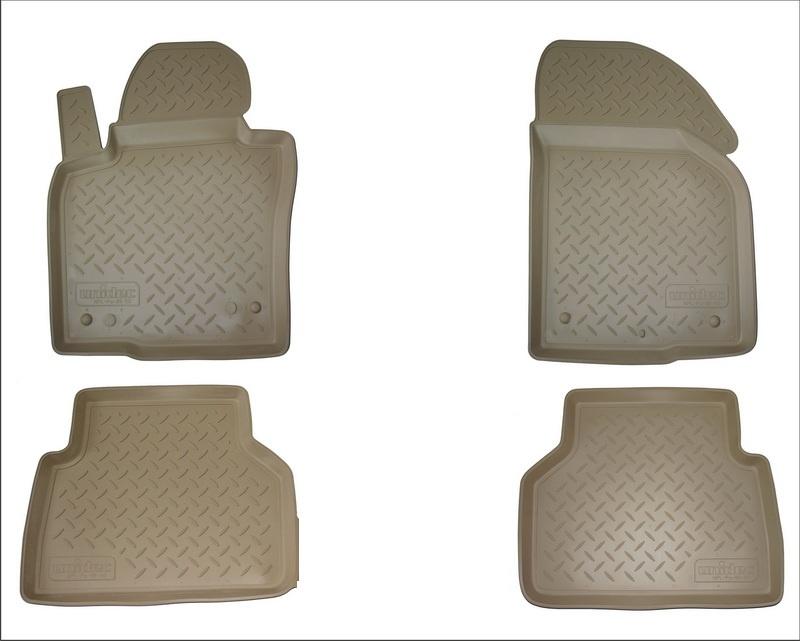 Коврики в салон автомобиля Norplast для Skoda Octavia III A7 2013, NPA11-C81-400-B, бежевый комплект ковриков салона и багажника rival для skoda octavia a7 2013 н в полиуретан k15101001 4