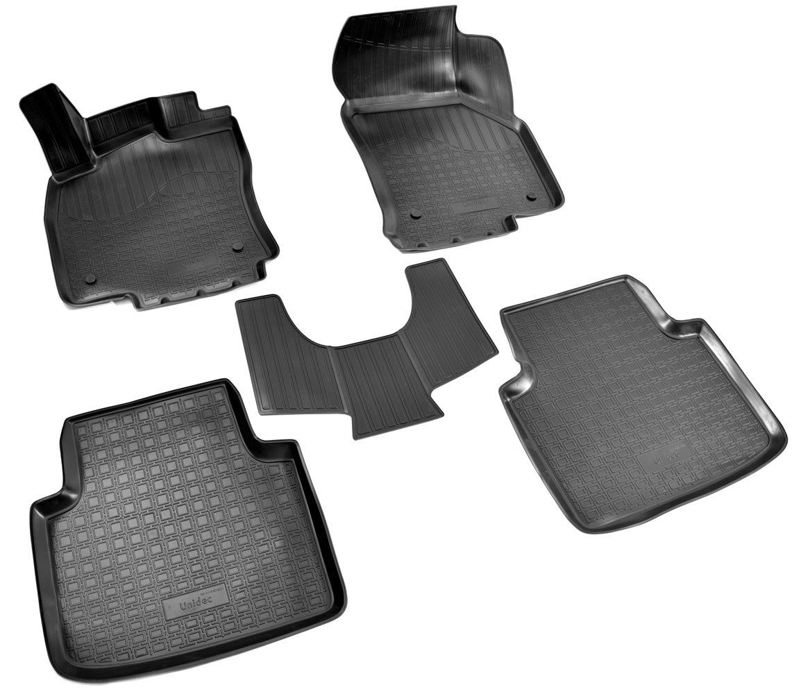 Коврики в салон автомобиля Norplast для Skoda Superb III 3D 2015, NPA11-C81-820, черный комплект ковриков в салон автомобиля novline autofamily skoda superb combi 2009 цвет бежевый
