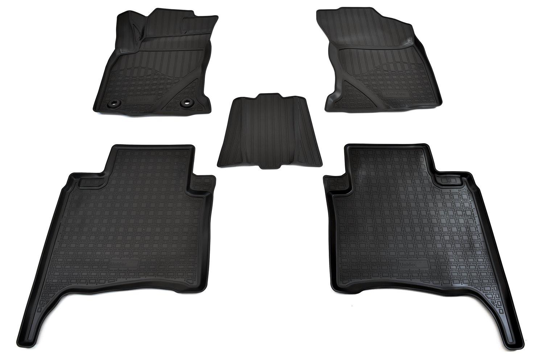 Коврики салона Norplast для Toyota Fortuner 3D 2015, NPA11-C88-230, черный коврики салона norplast для toyota camry xv70 3d 2017 npa11 c88 100 b бежевый