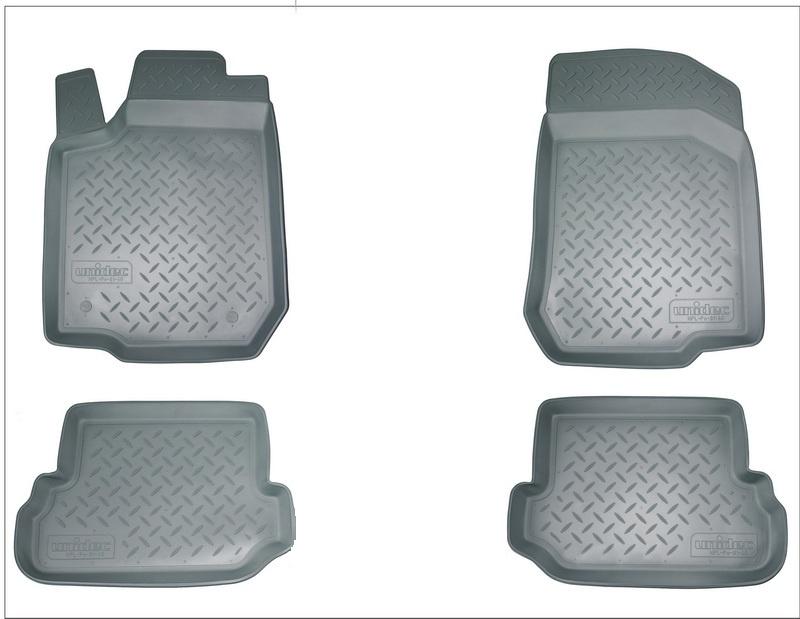 Коврики в салон автомобиля Norplast для Volkswagen Passat B5 (1996-2005), NPL-Po-95-25-G, серый