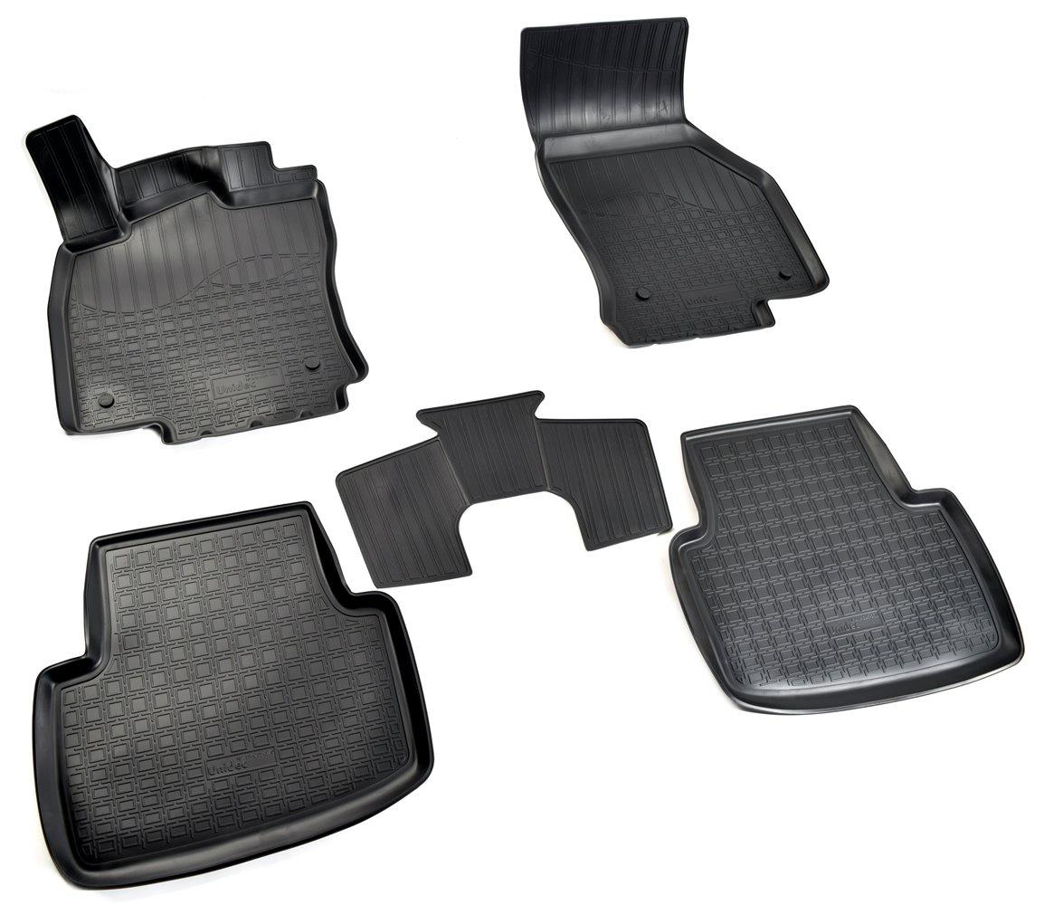 Коврики в салон автомобиля Norplast для Volkswagen Passat B8 3D (2015), NPA11-C95-370, черный цена 2017