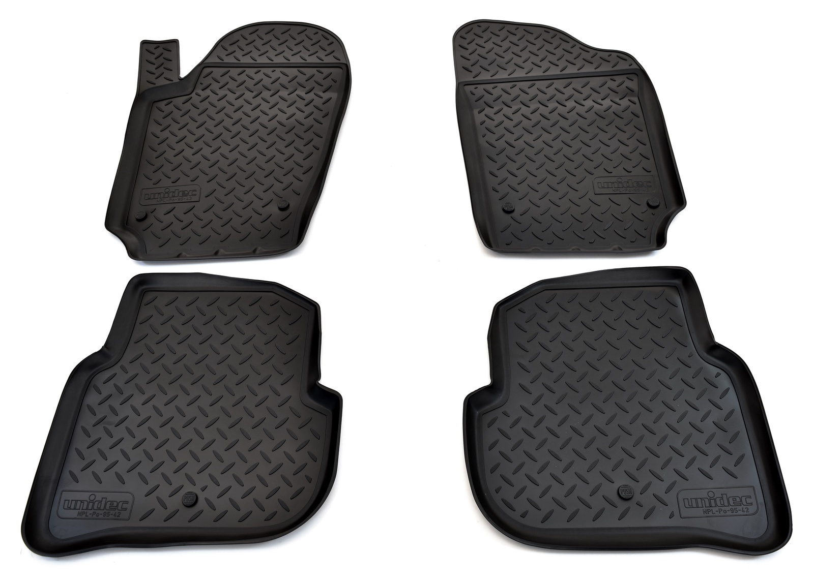 цена на Коврики в салон автомобиля Norplast для Volkswagen Polo (SD) (2010), NPL-Po-95-42, черный