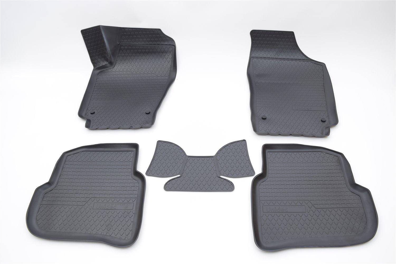 цена на Коврики в салон автомобиля Norplast для Volkswagen Polo (SD) 3D (2010), NPA11-C95-421, черный