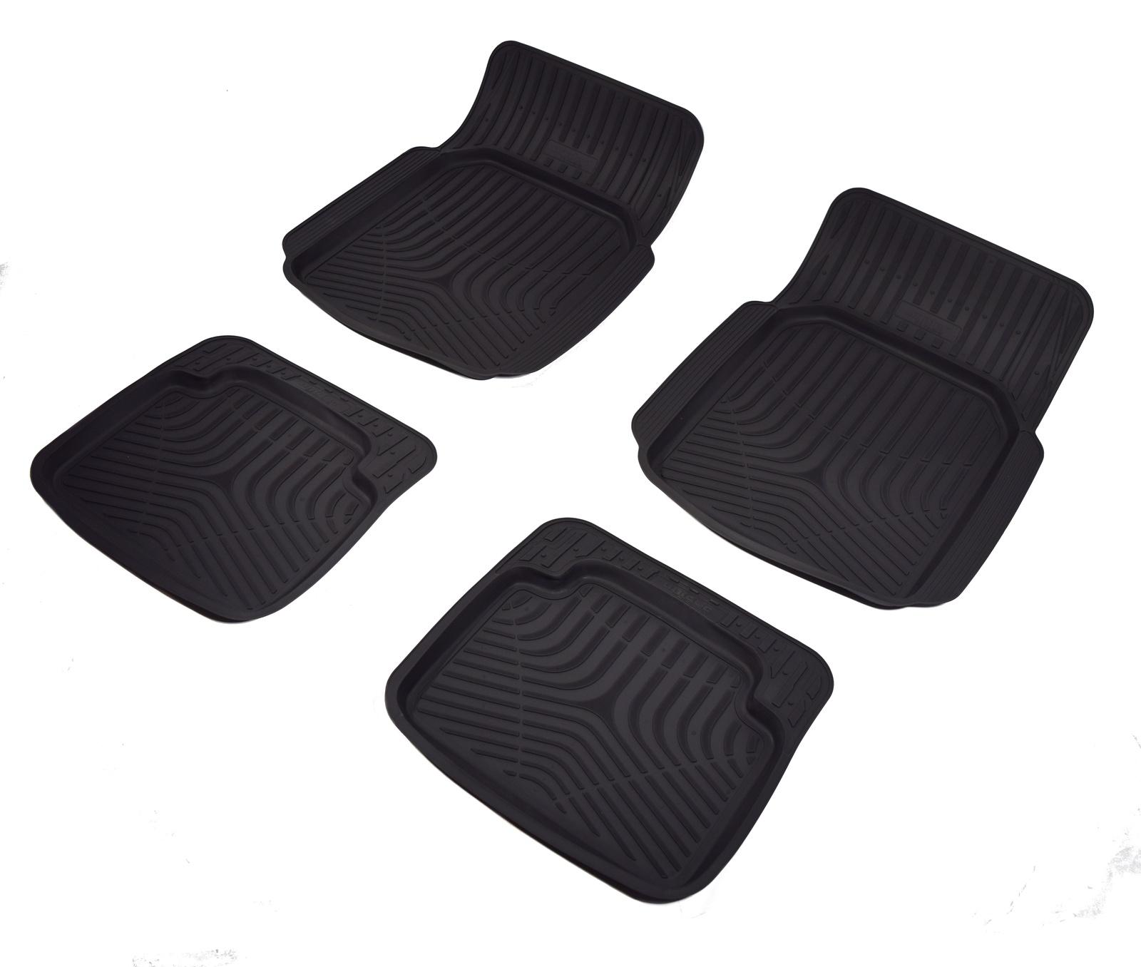 игровые коврики Коврики в салон автомобиля NorPlast, универсальные, с бортиком, NPL-Po-01-10, черный
