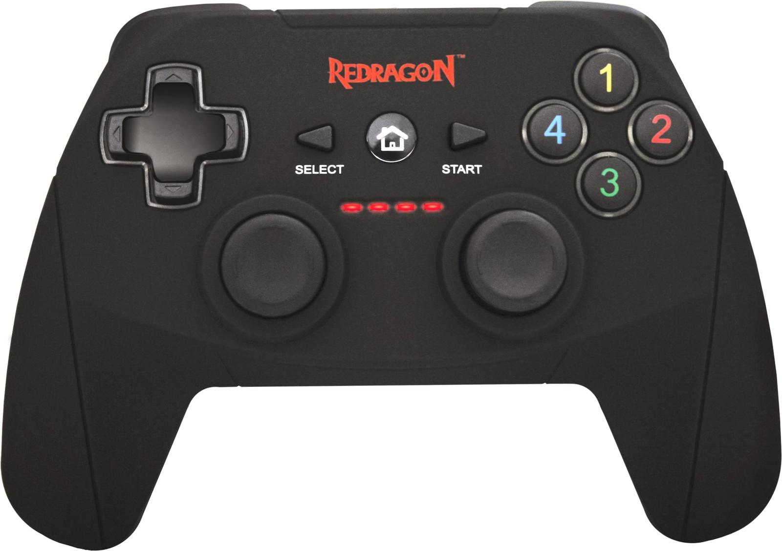 Геймпад Redragon Harrow USB Xinput-PS3, радио, Li-Ion, 64230, черный геймпад redragon harrow usb xinput ps3 64230