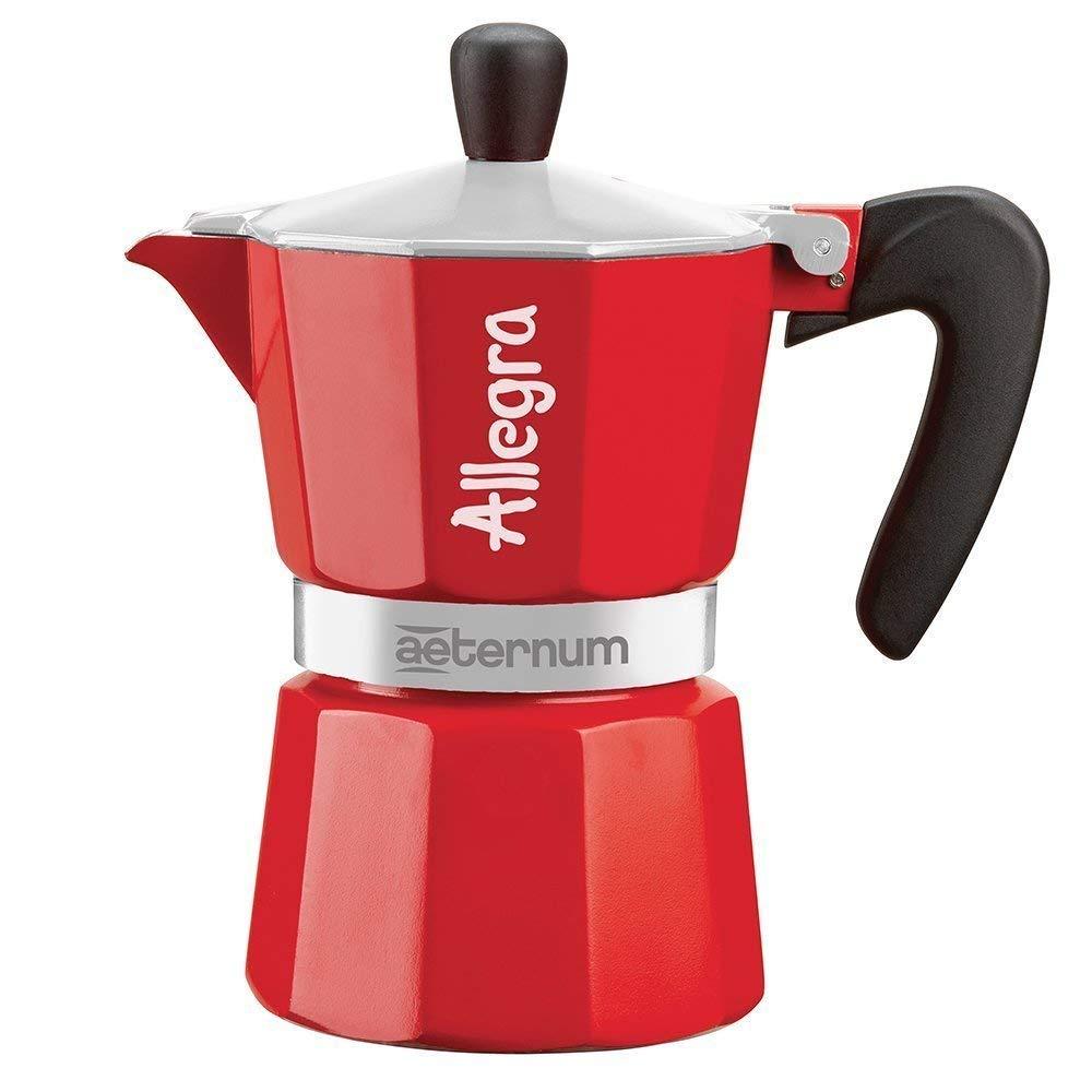 Гейзерная кофеварка Bialetti Aeternum Allegra, Алюминий кофеварка гейзерная bialetti aeternum elegance 6 порций алюминий 6008