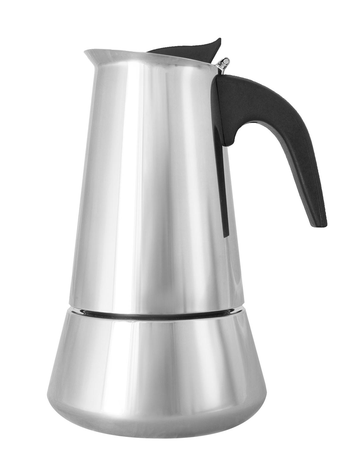 Кофеварка гейзерная Italco Induction на 6 порций, 148432157, серебристый гейзерная кофеварка italco express алюминий