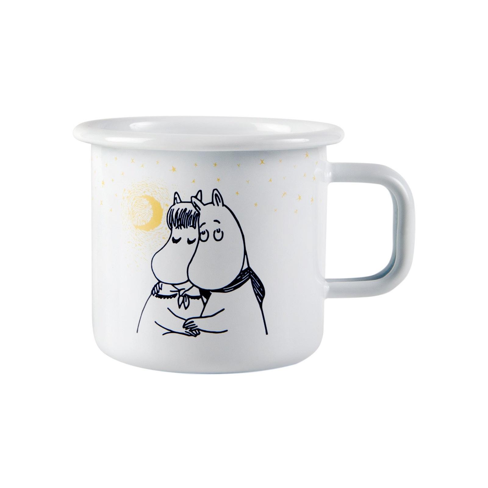 Moomin Кружка эмалированная Зимняя романтика, 370 мл white