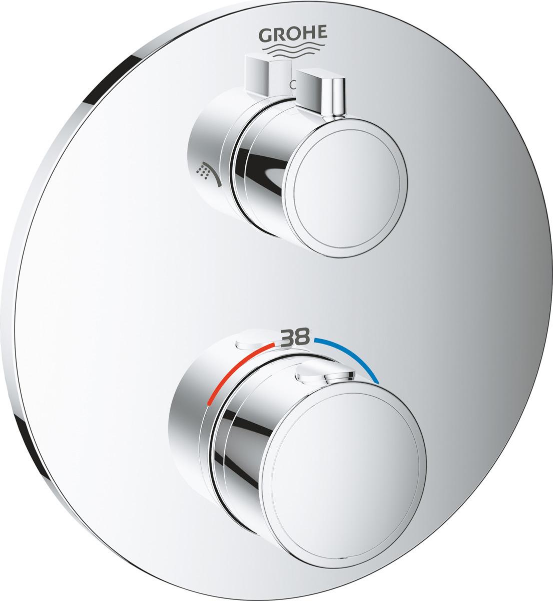 Термостат для душа Grohe Grohtherm, 24076000, с переключателем, серебристый