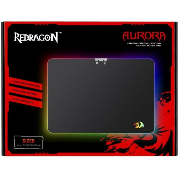 Игровой коврик для мыши Redragon Aurora Подсветка,350x250x3. 6,металл Redragon