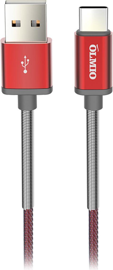 Кабель Olmio HD, USB 2.0 - USB Type-C, ПР038839, красный, 1.2 м аксессуар olmio usb usb type c 1m black пр038773