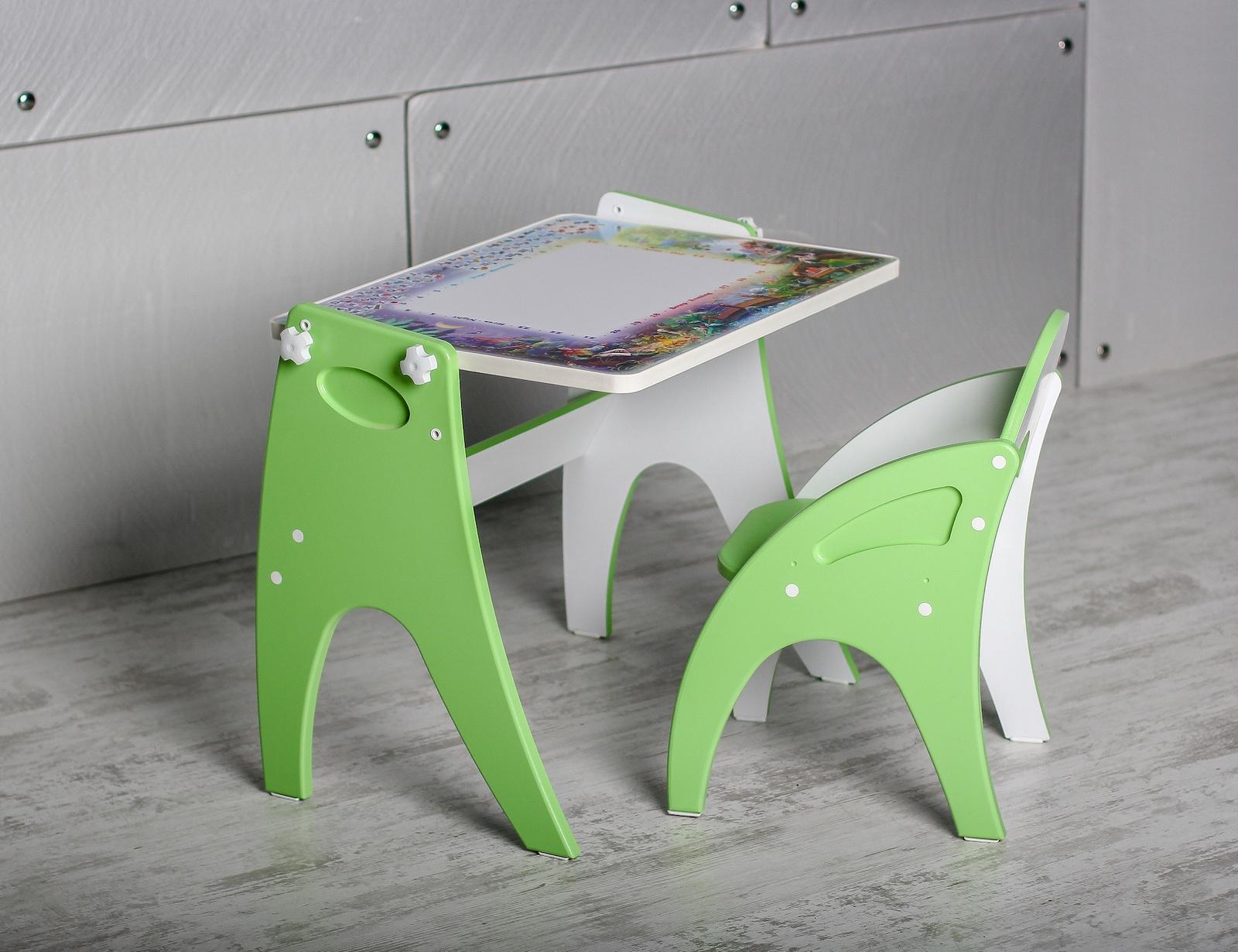 Набор детской мебели Тех Кидс ТРАНСФОРМЕР, салатовый набор детской мебели интехпроект трансформер розовый