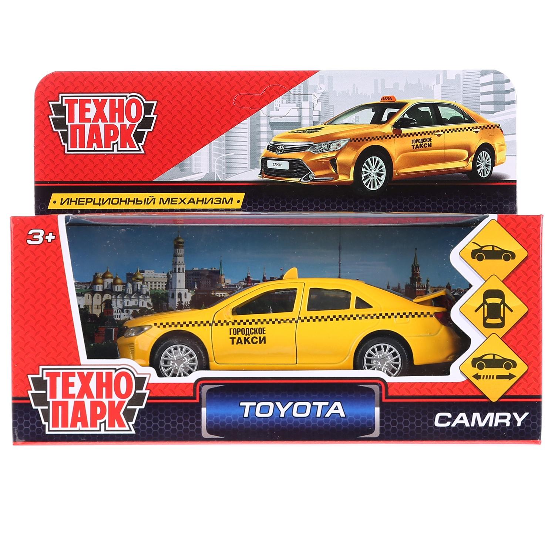 Машина Технопарк Toyota Camry такси, 259955, желтый, 12 см цена