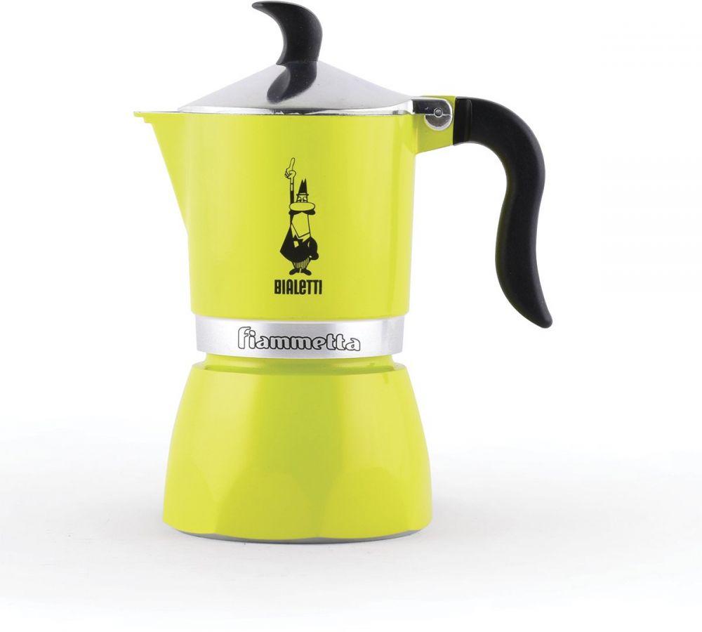 Кофеварка гейзерная Bialetti Fiametta Colors, на 3 чашки, зеленый 4792 гейзерная кофеварка bialetti fiametta 5352 фиолетовый