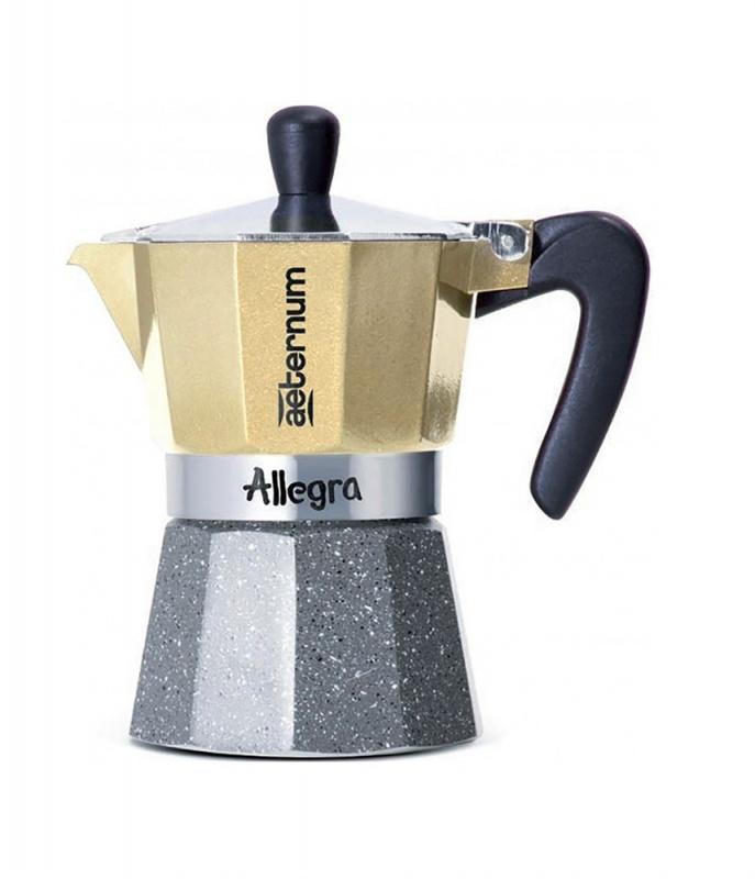 Кофеварка гейзерная Bialetti Aeternum Allegra Petra, платиновый, на 6 чашек кофеварка гейзерная bialetti aeternum elegance 6 порций алюминий 6008