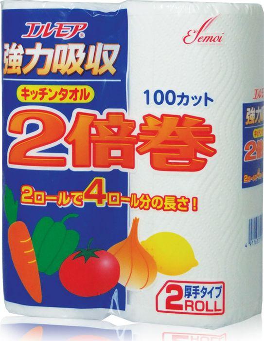Фото - Бумажные полотенца Kami Shodji Ellemoi, 170131, двухслойные, 2 рулона салфетки и полотенца для дома jie yun hygienix 250 3