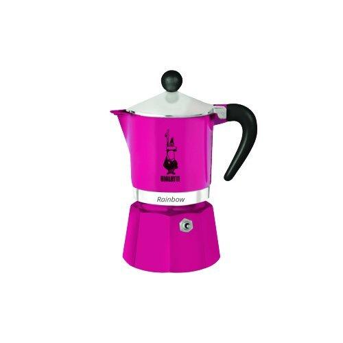Кофеварка гейзерная Bialetti Rainbow, фуксия на 3 чашки гейзерная кофеварка bialetti fiametta 5342 красный