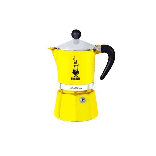Кофеварка гейзерная Bialetti Rainbow, желтый, на 6 чашек 4983