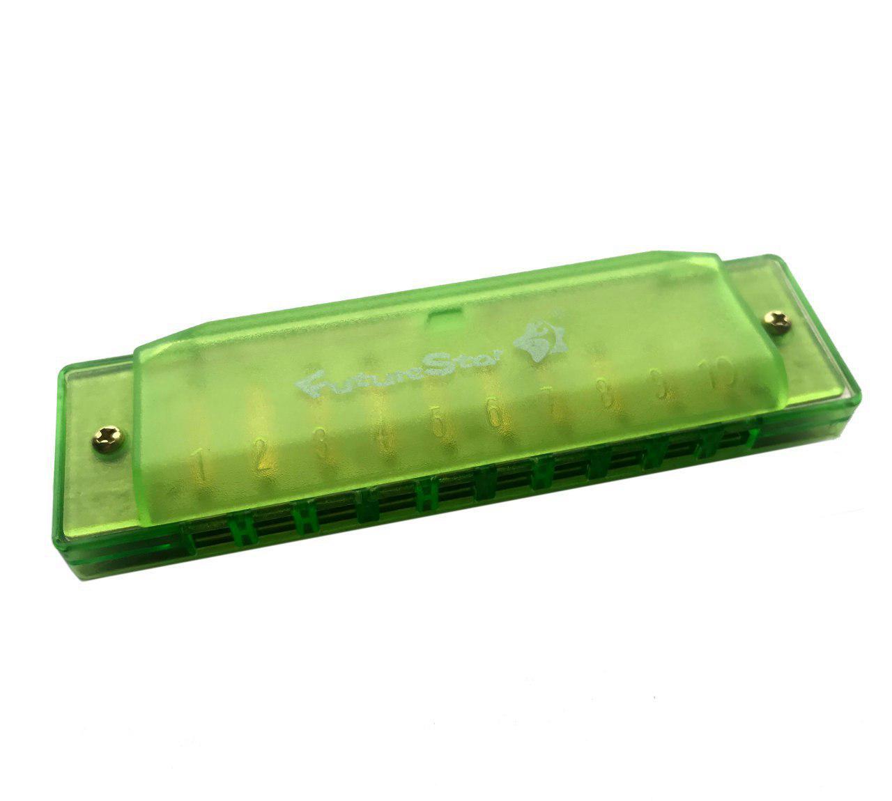 Губная гармошка Future Star SL-1017/GR MF00760, зеленый скейтборд пластиковый tempish buffy star цвет зеленый