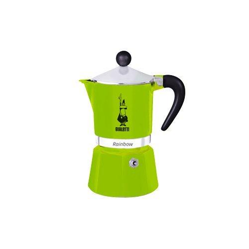 Кофеварка гейзерная Bialetti Rainbow, зеленый, на 3 чашки 4972 кофеварка гейзерная bialetti moka induzione 3 порции сталь 4922