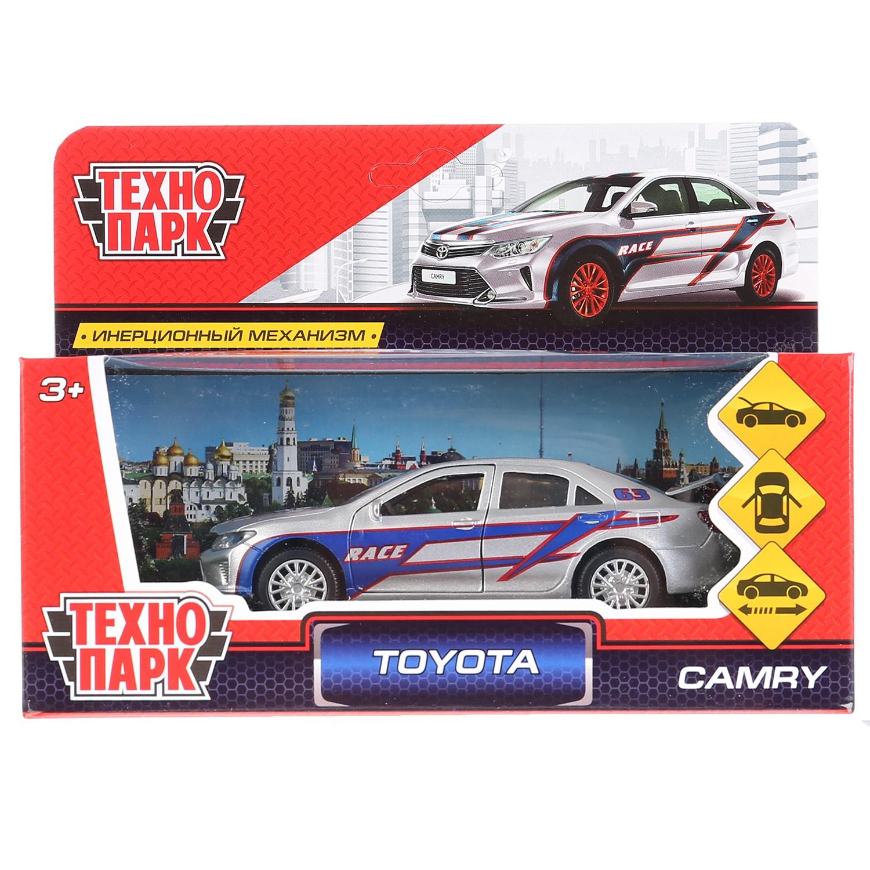 Машинка Технопарк TOYOTA CAMRY, 259956259956ТМ Технопарк. Машина металл TOYOTA CAMRY СПОРТ, длина 12 см, открывающиеся двери, багажник, инерционная. Машинка Toyota Camry Спорт ТМ Технопарк представляет собой точную лицензионную копию настоящей. Это металлическая модель, выполненная в белом цвете с узорами. У неё открываются двери и багажник, можно рассмотреть салон внутри. Оснащена инерционным механизмом: если поставить машинку на ровную поверхность, потянуть за корпус и отпустить, то она поедет сама. Развивает мелкую моторику, воображение, расширяет кругозор. Размер 12 см. Рекомендуется детям от 3 лет.