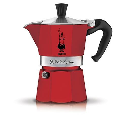 Кофеварка гейзерная Bialetti Moka Express Rossa, красный, на 6 чашек цена