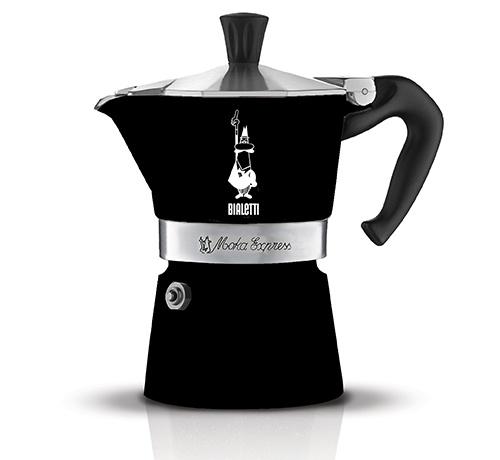 Кофеварка гейзерная Bialetti Moka Express Nera, черный, на 3 чашки кофеварка гейзерная bialetti moka induzione 3 порции сталь 4922