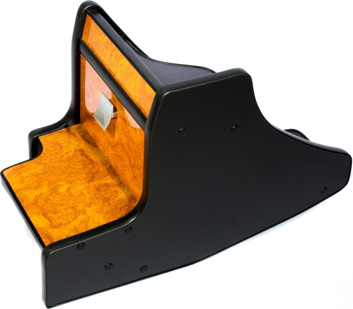 Консоль в авто АвтоБлюз для ГАЗель NEXT, ГР02804, ручка КПП на панели , глянец дерево