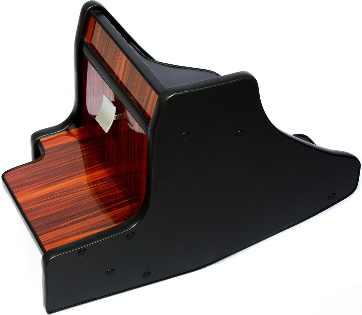 Консоль в авто АвтоБлюз для ГАЗель NEXT, ГР02805, ручка КПП на панели , глянец темное дерево