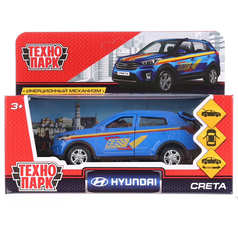 лучшая цена Машина Технопарк Hyndai Creta спорт, 259945, светло-синий, 12 см