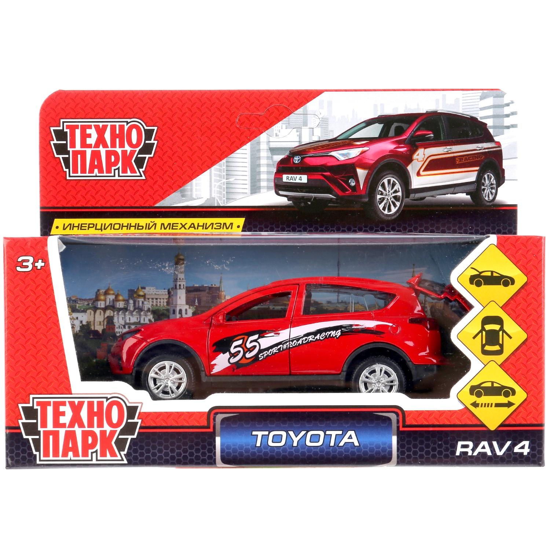 Машина Технопарк Toyota Rav4 спорт, 259952, красный, 12 см цена