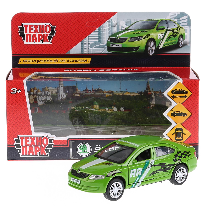 Машина Технопарк Skoda Octavia спорт, 259363, зеленый, 12 см цена