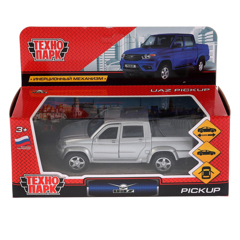 Машина Технопарк Uaz Pickup, 259359, серебристый, 12 см цена
