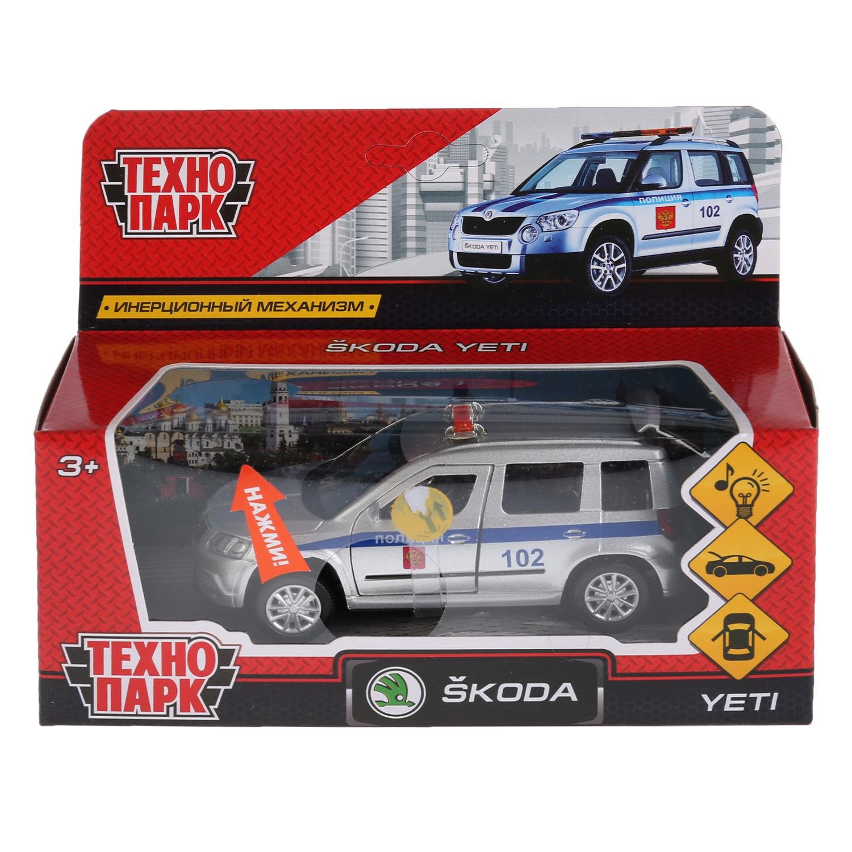 Машина Технопарк Skoda Yeti полиция, 259939, серебристый, синий, 12 см