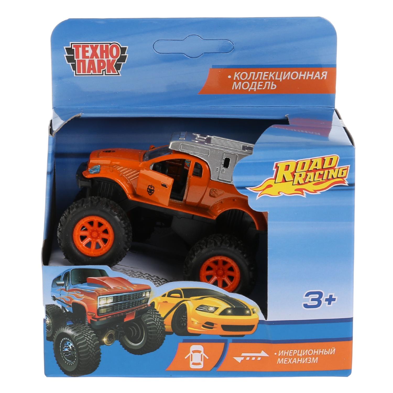 Машинка Технопарк 259286, 259286 оранжевый, белый тм технопарк машина металл мутант road racing длина 12 5см в ассорт на блистере в кор 2 180шт