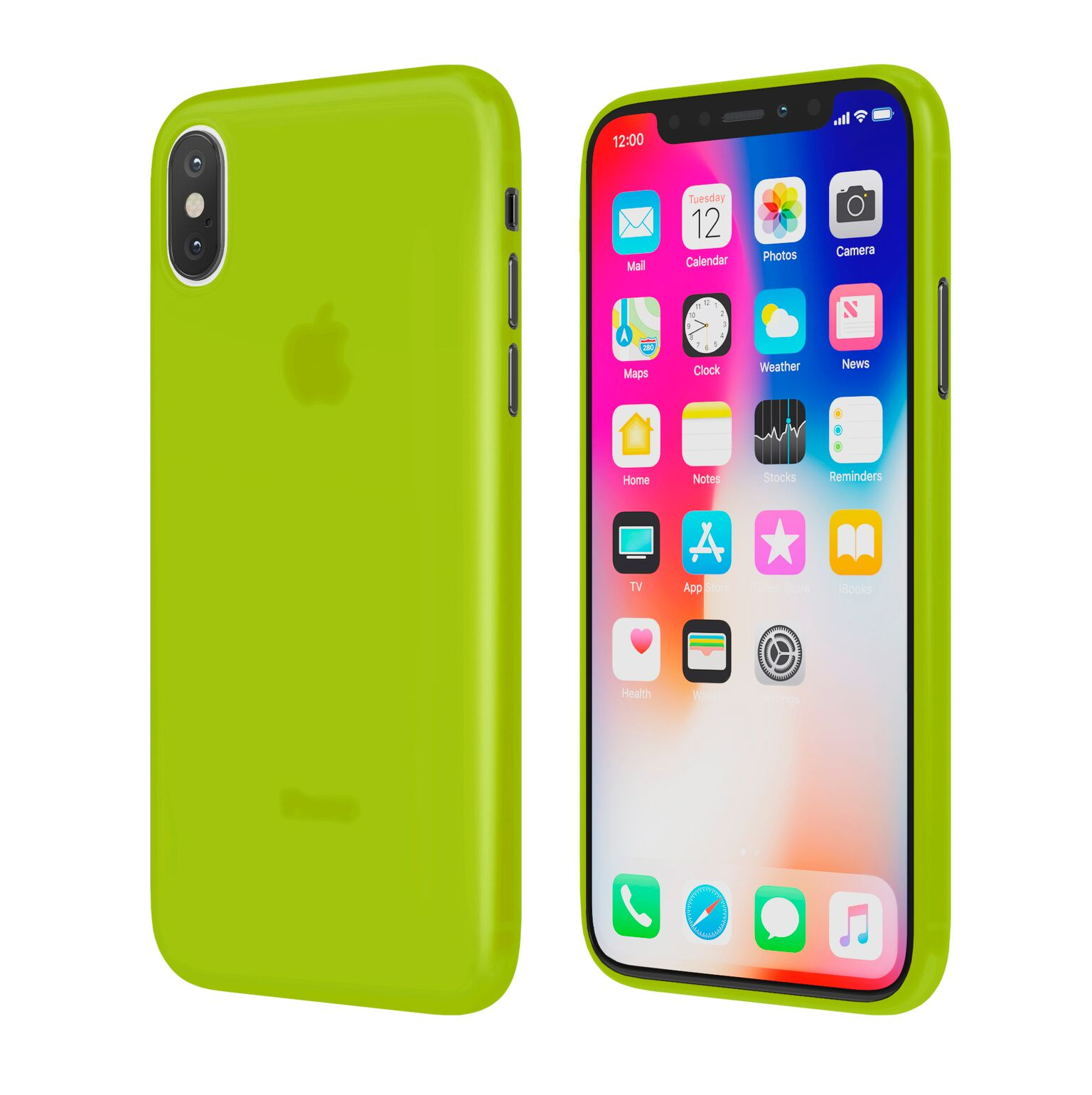 Чехол Vipe Flex для Apple iPhone X, 644-VPIPXFLEXYLW, желтый чехол vipe flex для apple iphone x 644 vpipxflexred красный