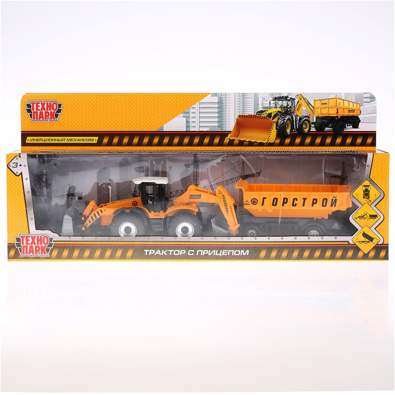 Машинка Технопарк 258851, 258851 желтый строительная техника технопарк трактор с прицепом 1801c 1bcd r 17 см