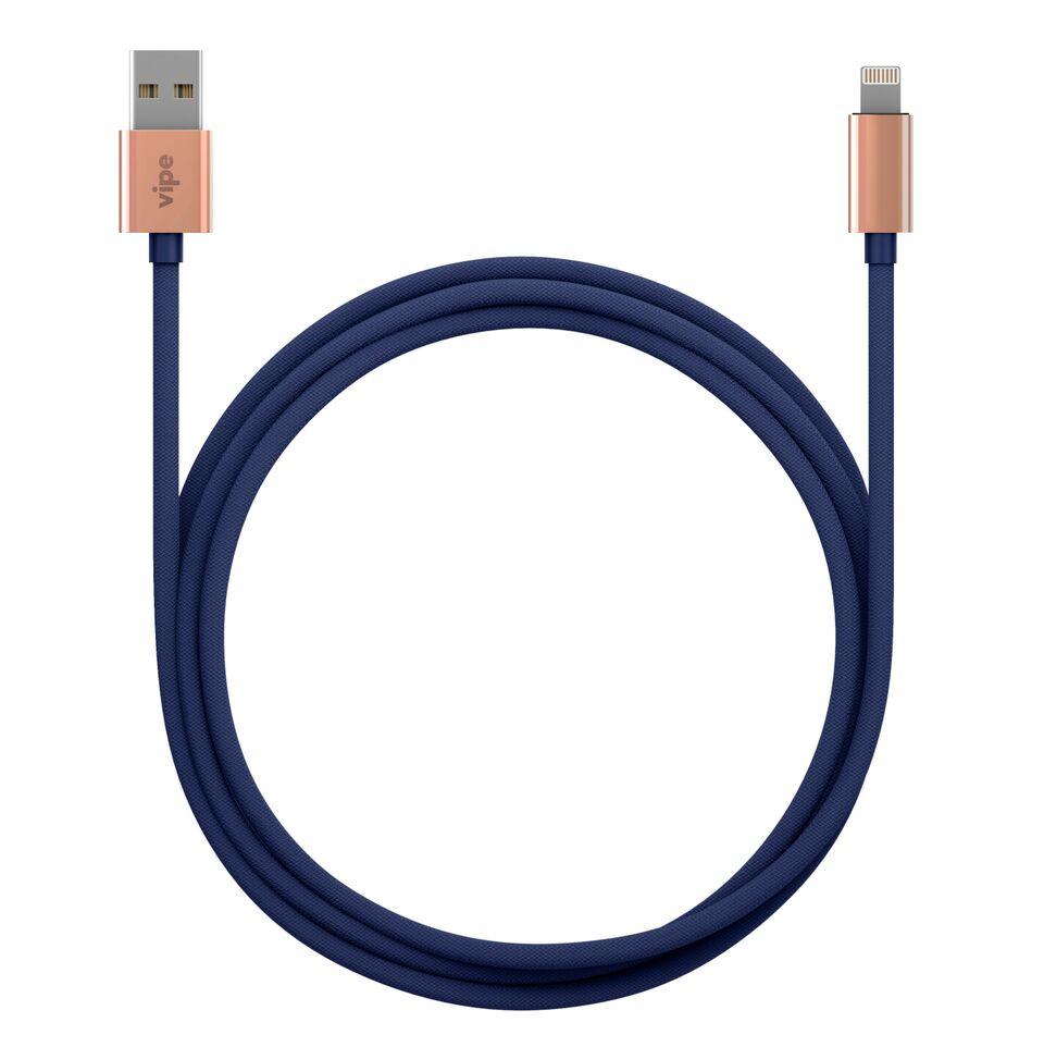 Кабель Vipe USB - Lightning, MFI, 644-Vpmficblcopblk, синий кабель adata lightning mfi