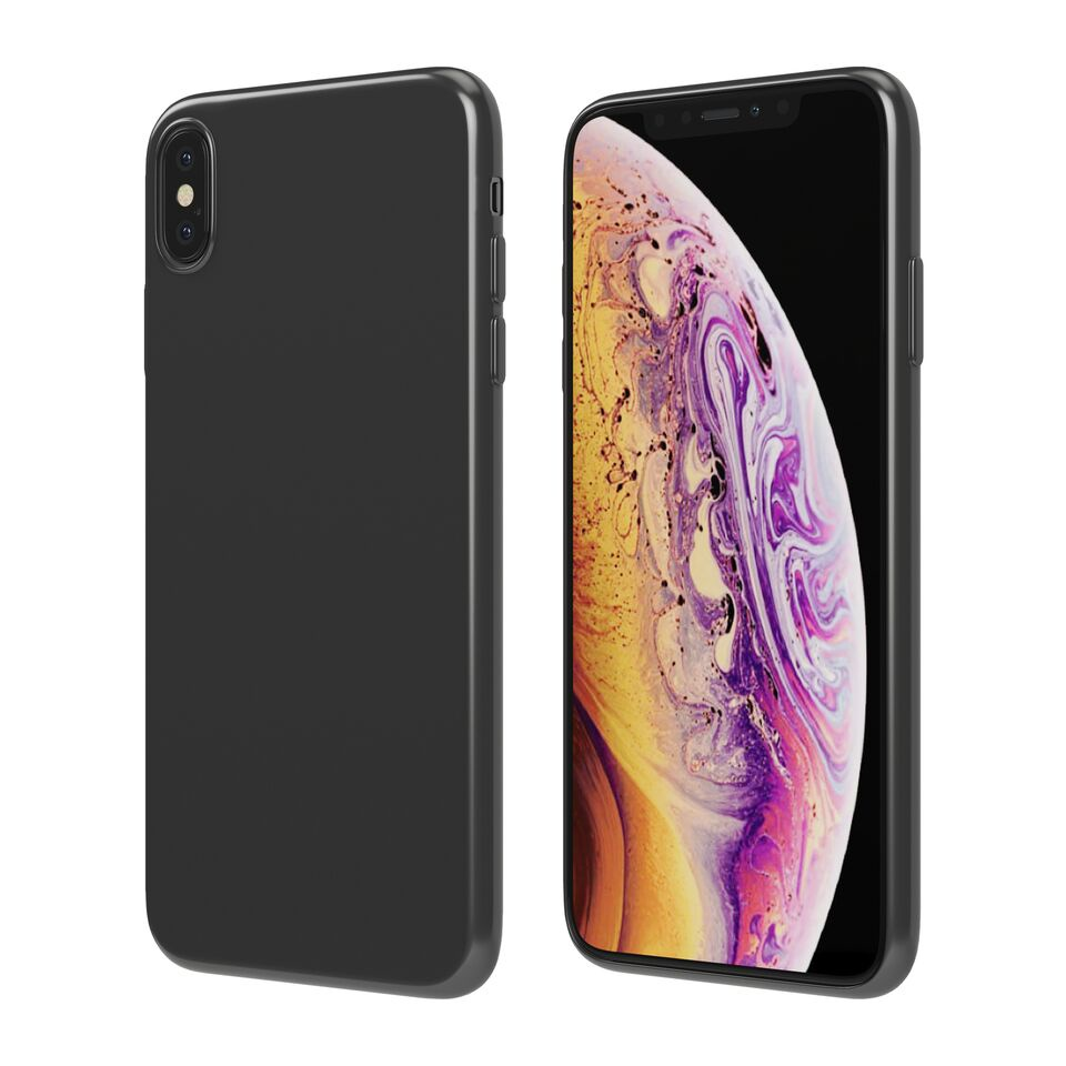 Чехол Vipe Color для Apple iPhone XS Max, 644-VPIPXSMAXCOLBLK, черный чехол vipe flex для apple iphone x 644 vpipxflexred красный