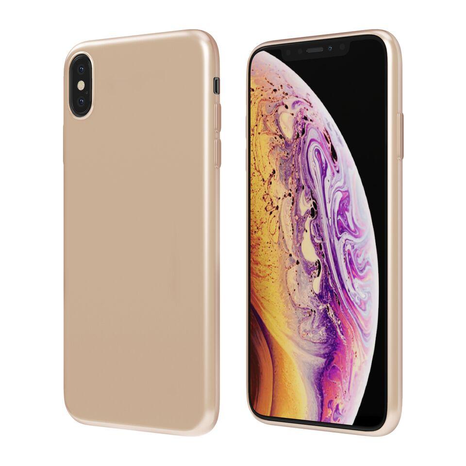 Чехол Vipe Color для Apple iPhone XS Max, 644-VPIPXSMAXCOLGLD, золотой чехол vipe color для apple iphone xs max 644 vpipxsmaxcolblk черный