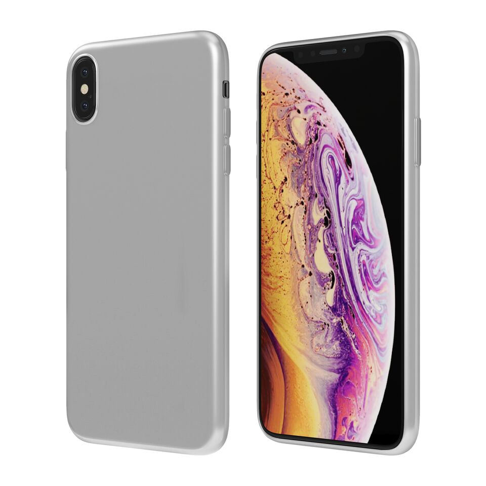 Чехол Vipe Color для Apple iPhone XS Max, 644-VPIPXSMAXCOLSIL, серебристый чехол vipe color для apple iphone xs max 644 vpipxsmaxcolblk черный