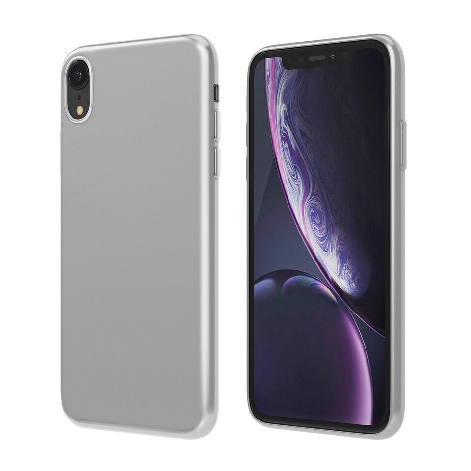 Чехол Vipe Color для Apple iPhone XR, 644-VPIPXRCOLSIL, серебристый чехол vipe color для apple iphone xs max 644 vpipxsmaxcolblk черный