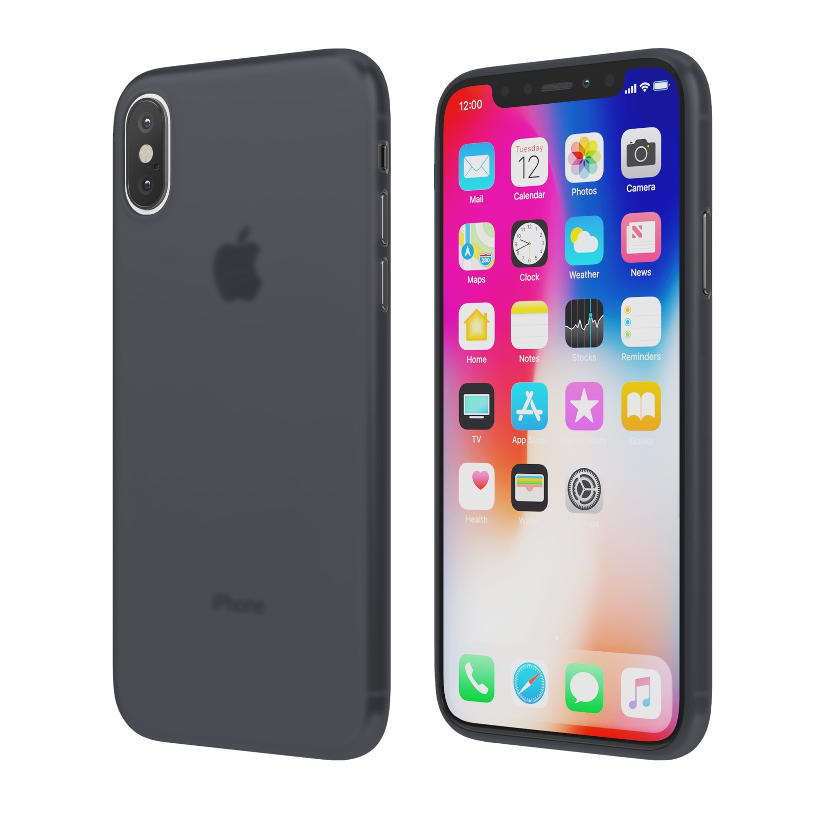 Чехол Vipe Flex для Apple iPhone X, 644-VPIPXFLEXDG, темно-серый чехол vipe flex для apple iphone x 644 vpipxflexred красный