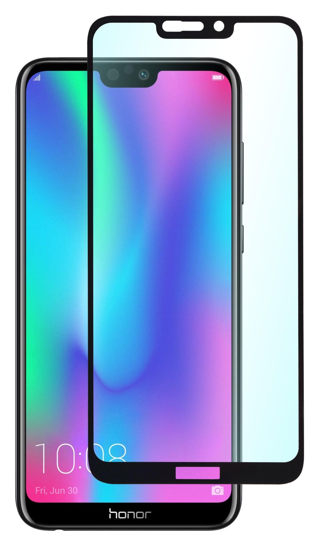 Защитное стекло SkinBOX, для Huawei Honor 8C, 4630042522404, черный стоимость