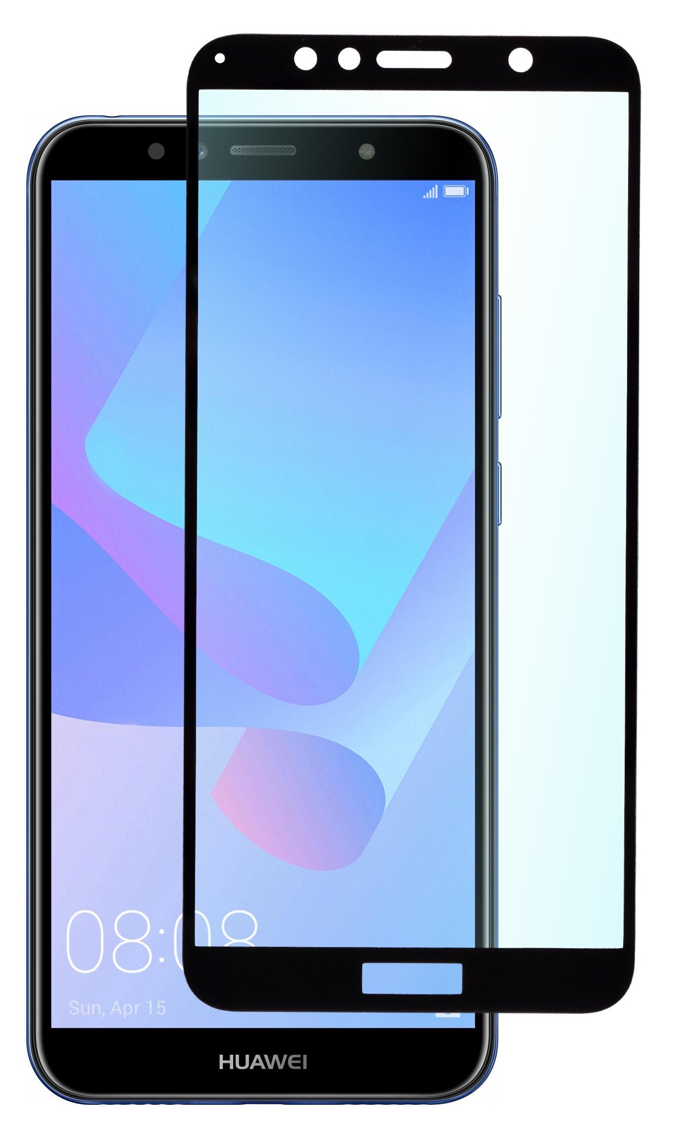 Защитное стекло SkinBOX, для Huawei Y6 Prime/ Y6/ Honor 7A Pro, 4630042522428, черный аксессуар защитное стекло для huawei honor 7c 7a pro luxcase 3d full screen black frame 77940