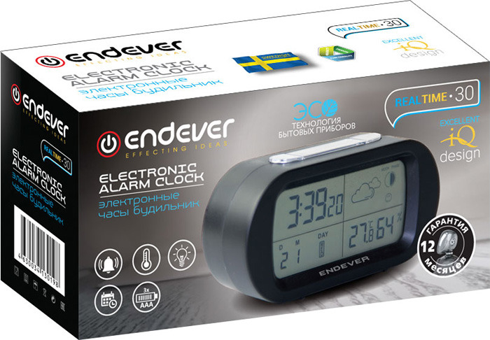 Радио-будильник Endever электронные Endever