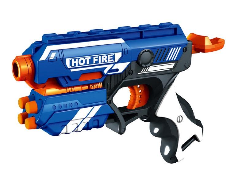 Бластер FindusToys Blaze Storm Hot Fire, FD-08-001 бластер для девочки findustoys blaze storm fd 08 015 белый черный розовый