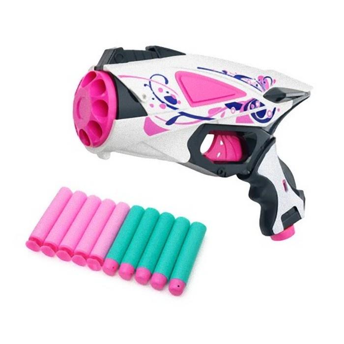Бластер для девочки FindusToys Blaze Storm, FD-08-015, белый, черный, розовый storm 47263 sl